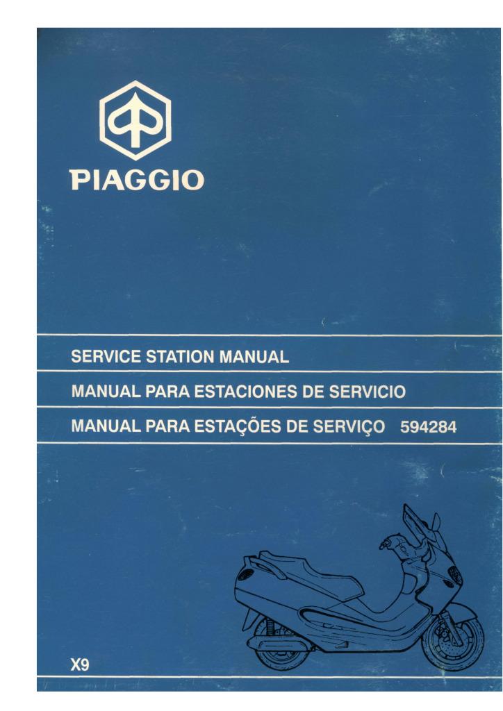Piaggio X9 125 180 Service Manual Pdf  91 2 Mb